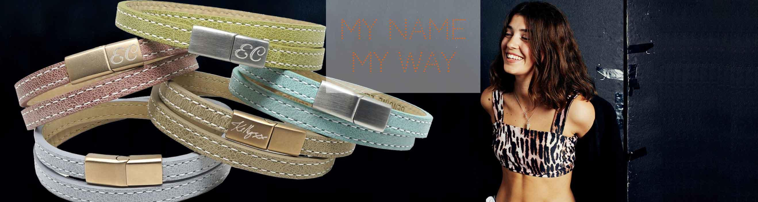 Personalised Leather Bracelets for Girls
