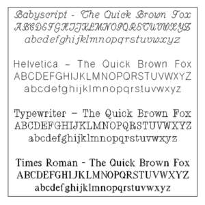 Example Font