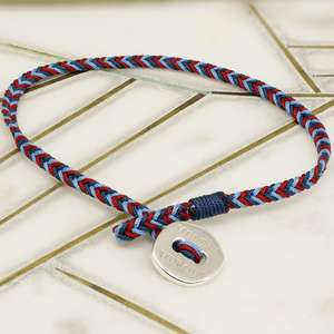 Official Help For Heroes Cord Bracelet for Women with a Sterling Silver Button Clasp. Will fit 17cm Wrists