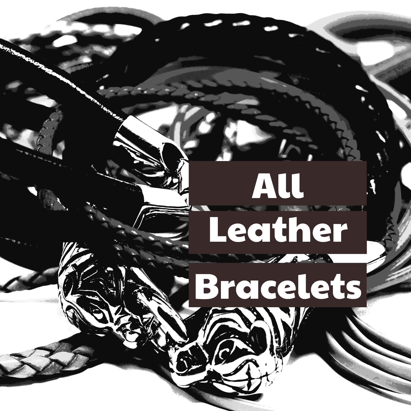 All our Leather Bracelets