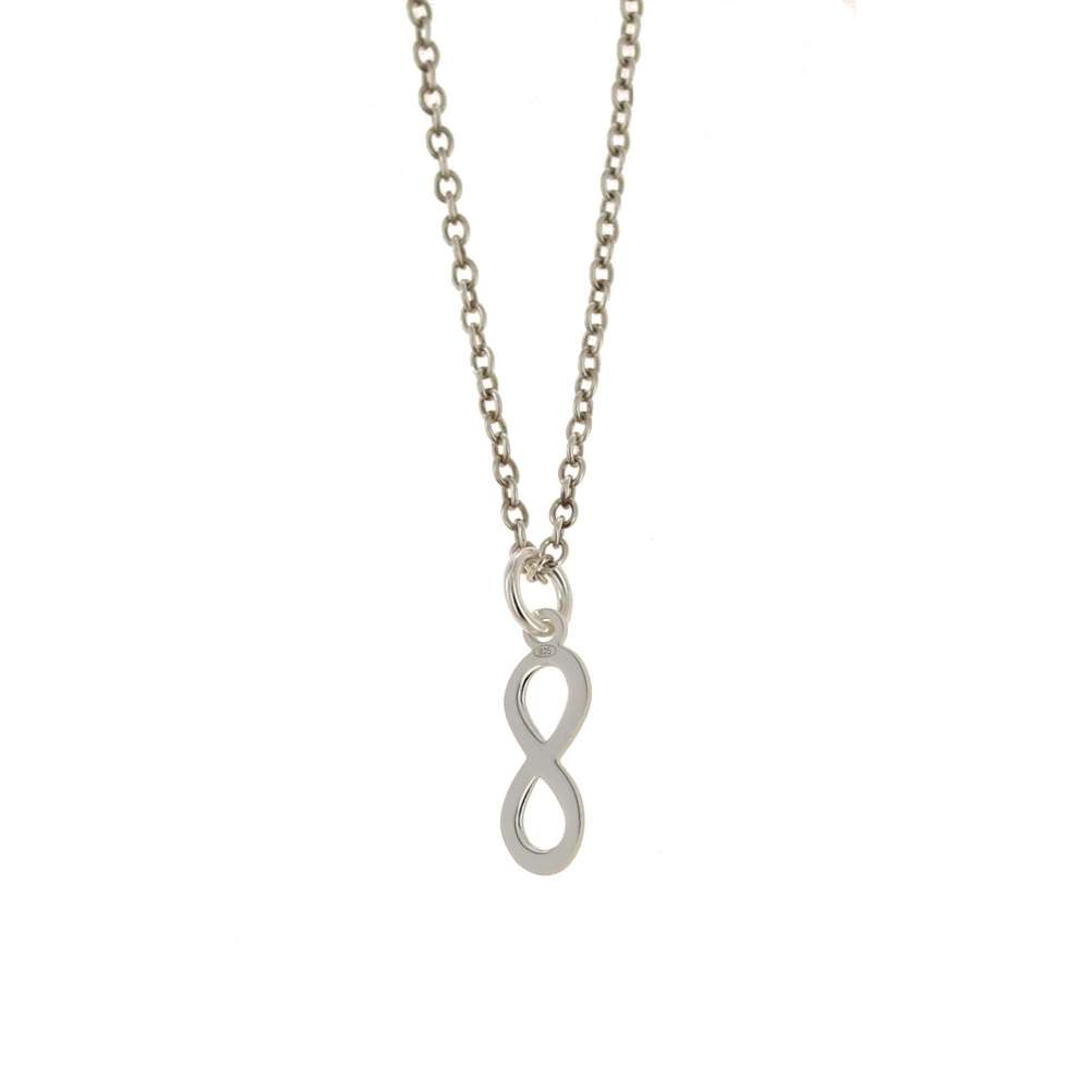 Sterling Silver Mini Infinity Charm, or Necklace