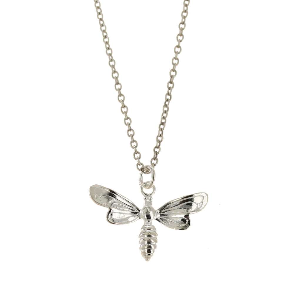 3D Sterling Silver Honey Bee Pendant or make it a necklace with an optional Chain.