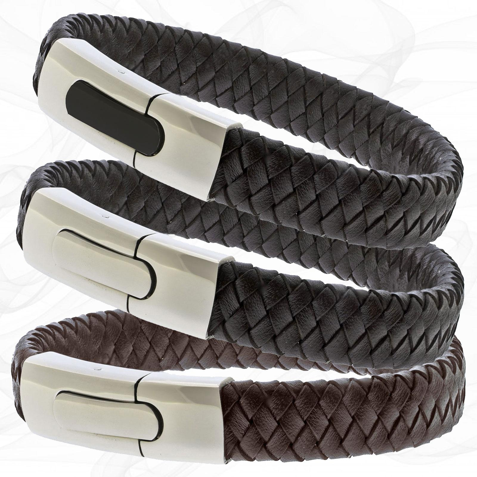 Personalised Chunky Leather Bracelets for men