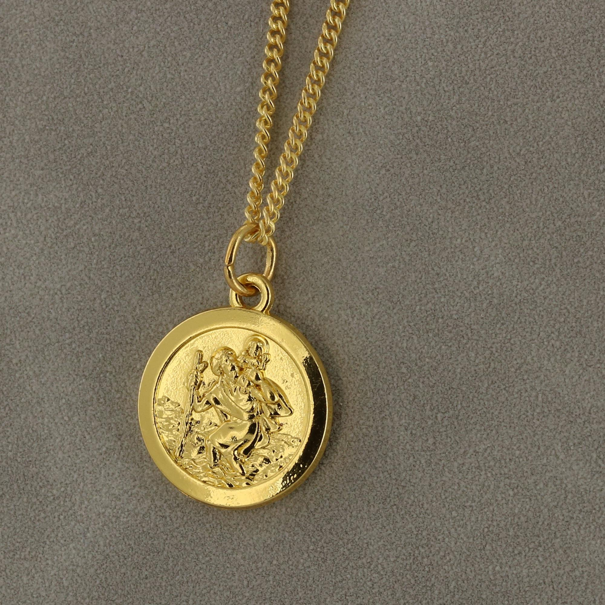 Gold Saint Christopher