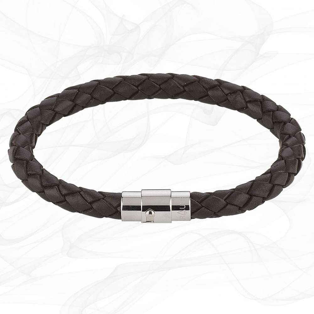BROWN SINGLE STRAND BOLO LEATHER BRACELET & MAGNETIC CLASP for Men