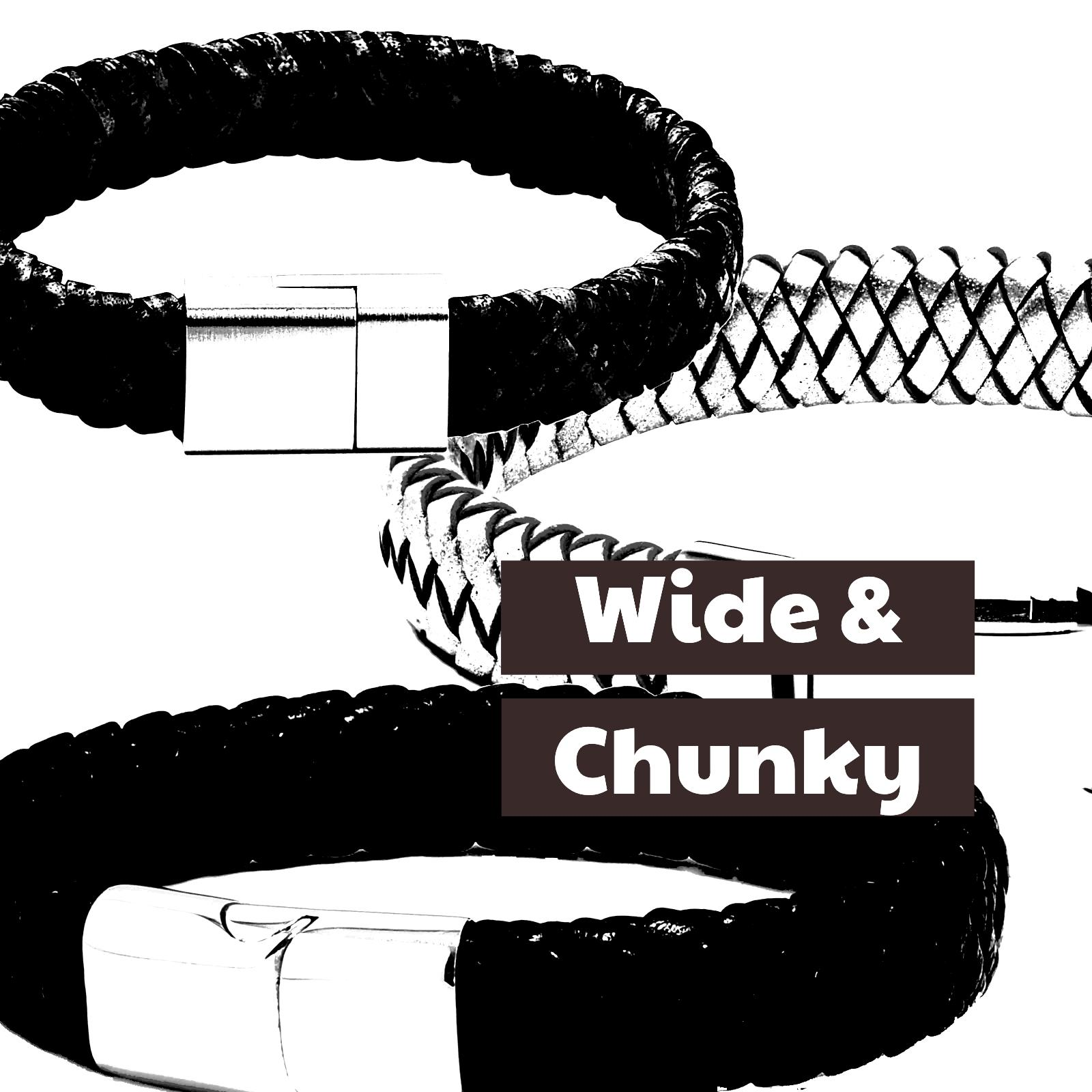 Wide and Chunky Leather Bracelets