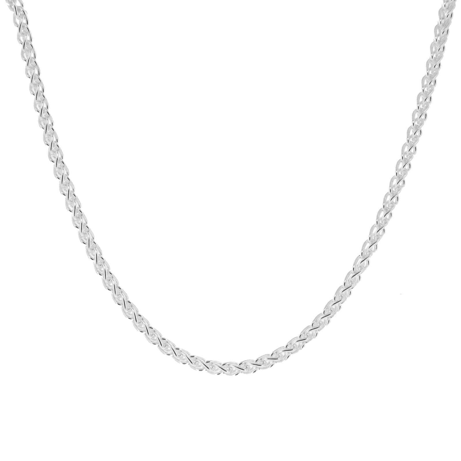 Italian made Organically E-coated Sterling Silver 1.8mm Spiga Wheat Chains