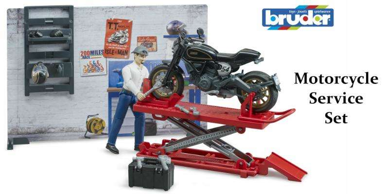 Bruder Motorcycle Service Set