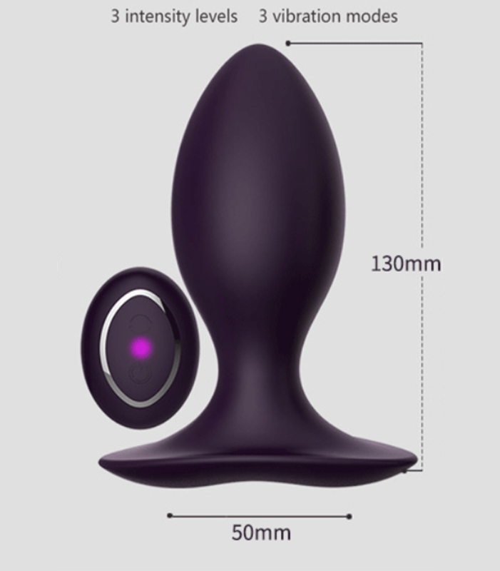 Neil II 50 Silicone Jiggle Ball Rechargeable Remote Control Vibrating Anal Butt Plug by Libotoy 2
