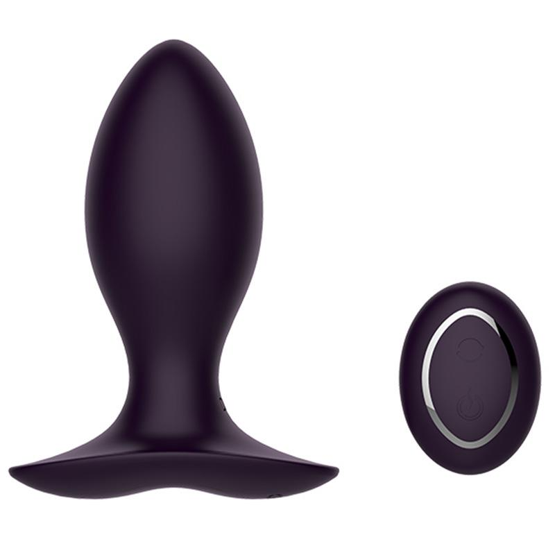Neil II 45 Silicone Jiggle Ball Rechargeable Remote Control Vibrating Anal Butt Plug Purple by Libotoy