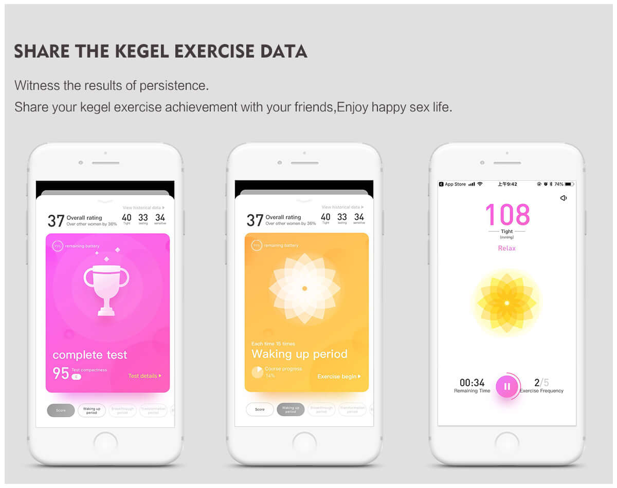 Interactive AI Smart App Kegel Ball - Karen by Libotoy