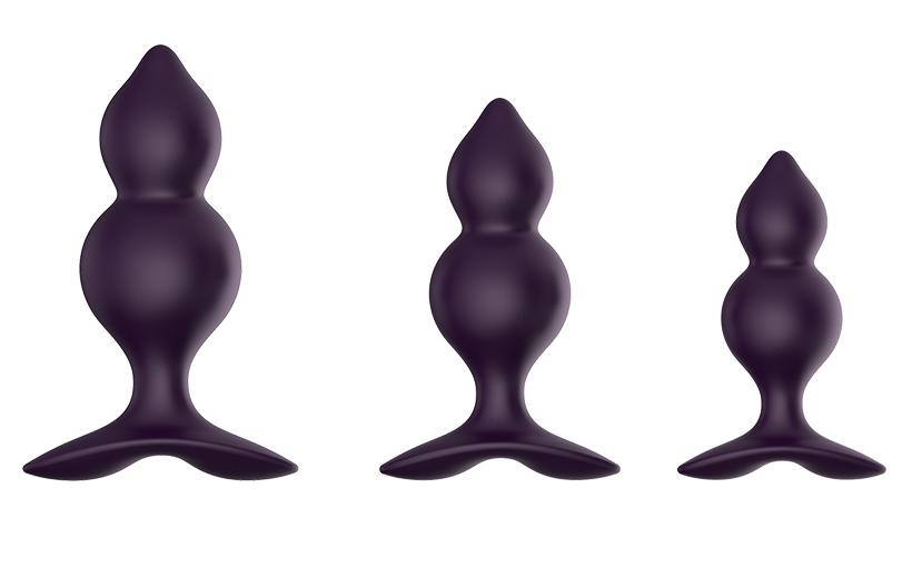 Hulu Silicone Jiggle Ball Wave Anal Butt Plugs Set by Libotoy 1