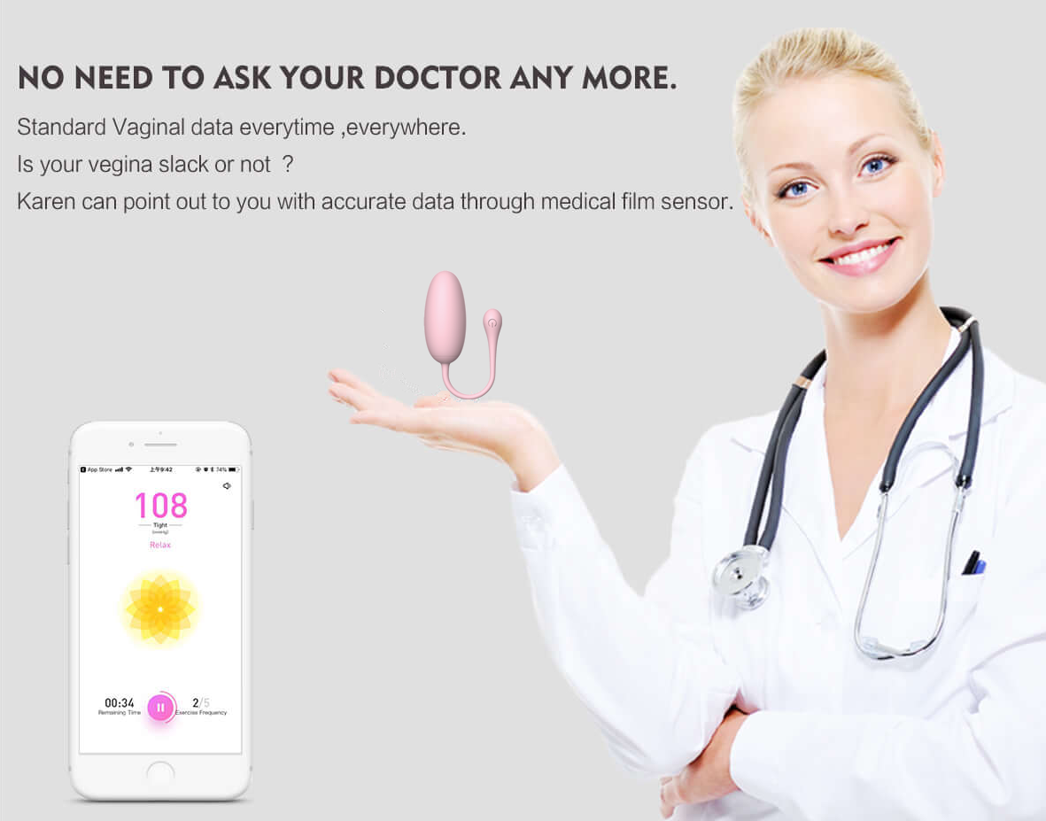 Approved By Medical Test & Recommended By Therapist Kegel Ball - Karen by Libotoy