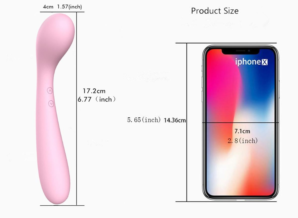 Lily Mini Curved Rechargeable Waterproof Silicone Double-Ended Vibrator by LIbotoy 2