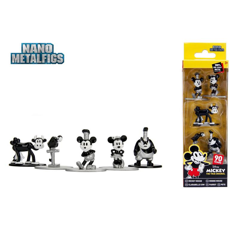 Disney Nano Metalfigs Diecast Mini Figures 5-Pack Mickey's 90th