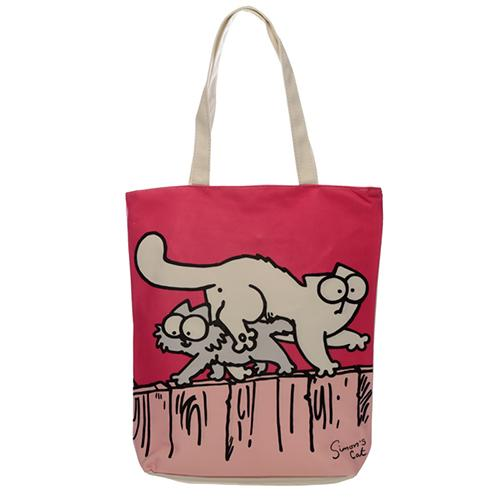Simon's Cat Pink Shopping Bag