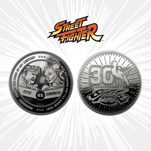 Street Fighter Collectable Coin 30th Anniversary Ryu vs Chun-Li Silver Edition