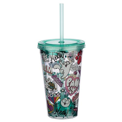 Simon's Cat Lidded Cup with Straw