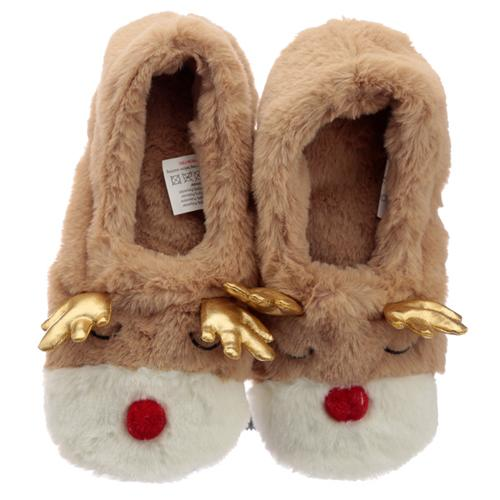 Reindeer Microwavable Heat Wheat Pack Slippers