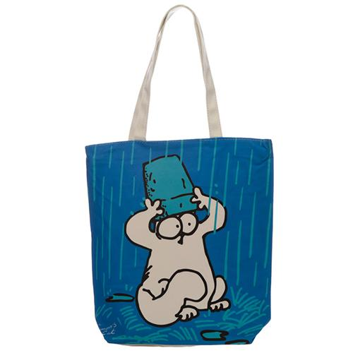 Simon's Cat Rainy Day Shopping Bag