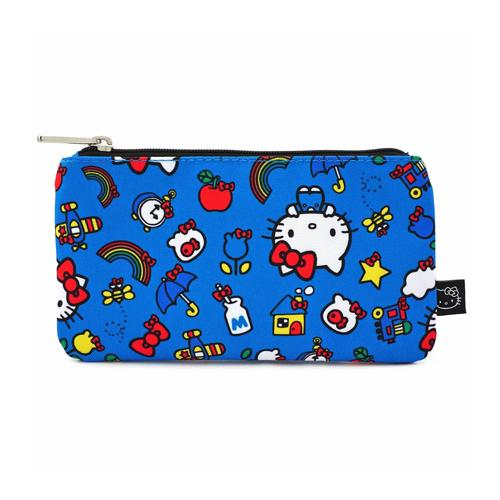 Kitty & Rainbow Pattern Coin/Cosmetic Bag Hello Kitty by Loungefly
