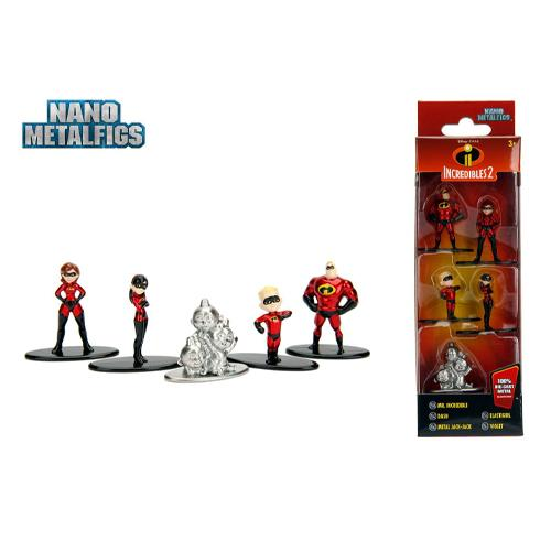 Disney Nano Metalfigs Diecast Mini Figures 5-Pack Incredibles 2