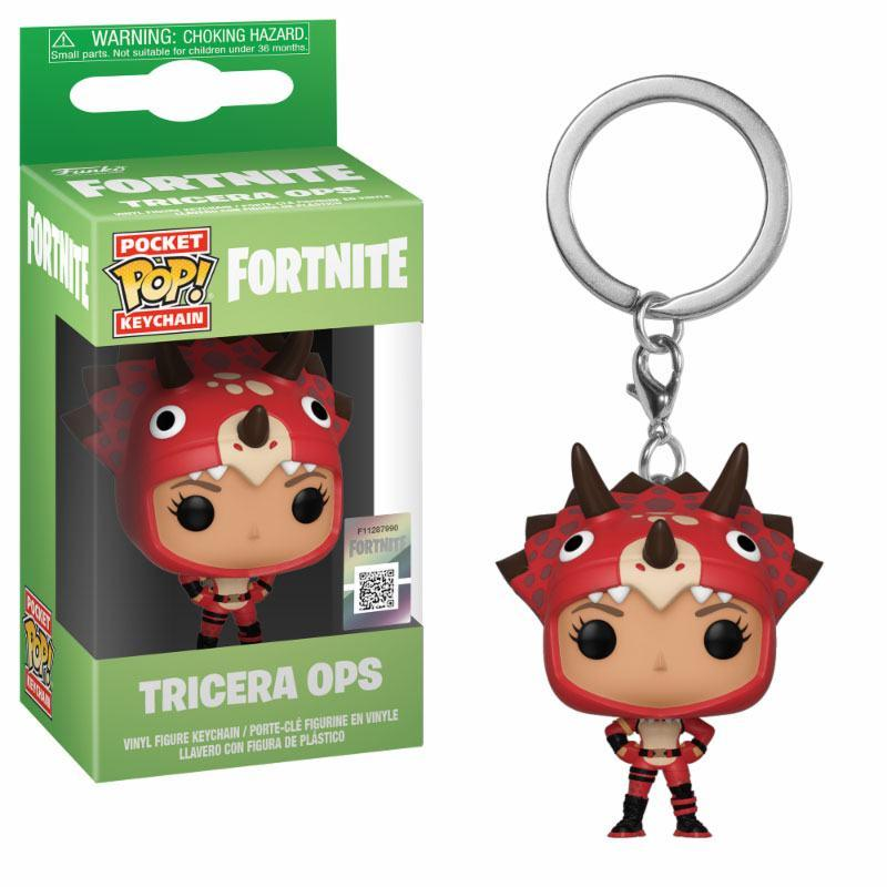 Fortnite Pocket POP! Vinyl Keychain Tricera Ops