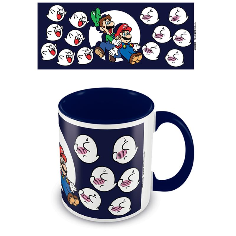 Super Mario (Boos) Blue  Coloured Inner Mug