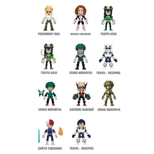 My Hero Academia Action Vinyls Mini Figures Display