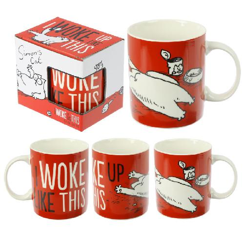 Simon's Cat Porcelain Mug (Woke up like this)