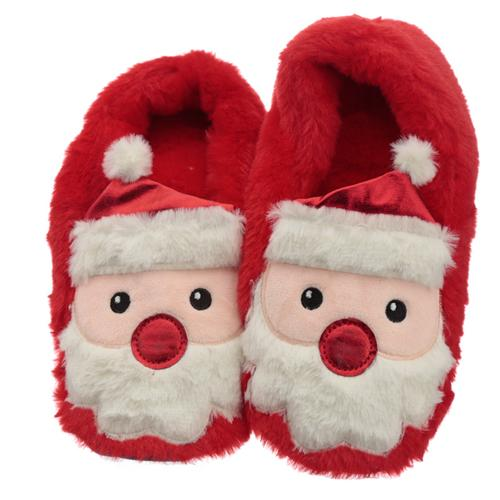 Santa Microwavable Heat Wheat Pack Slippers