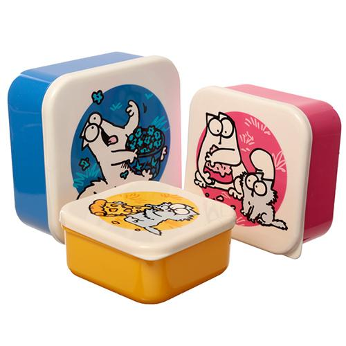 Simon's Cat Lunch Boxes Set of 3