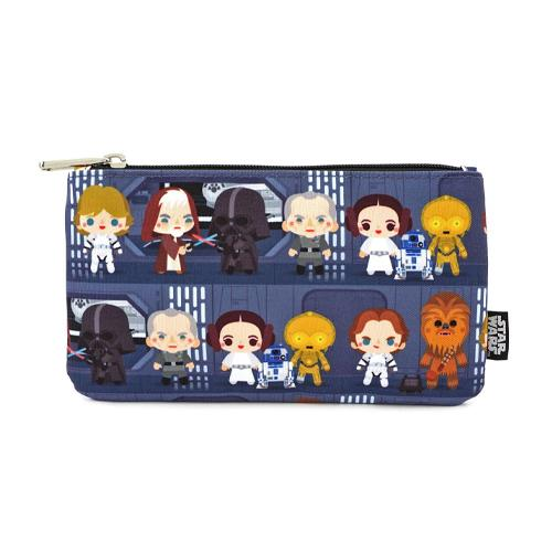 Chibi Characters Coin/Cosmetic Bag Star Wars by Loungefly