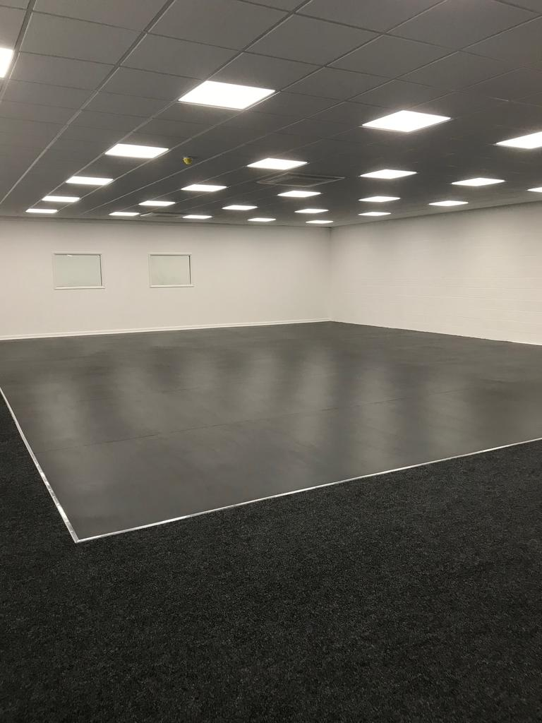 Multi Dance flooring fitted to ballet studio