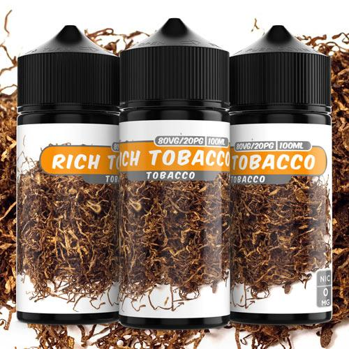 100ml 0mg Rich Tobacco e liquid