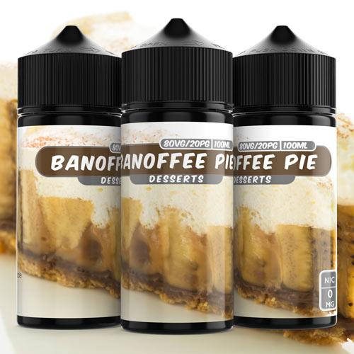 3mg Banoffee Pie (100ml) Shortfill e liquid