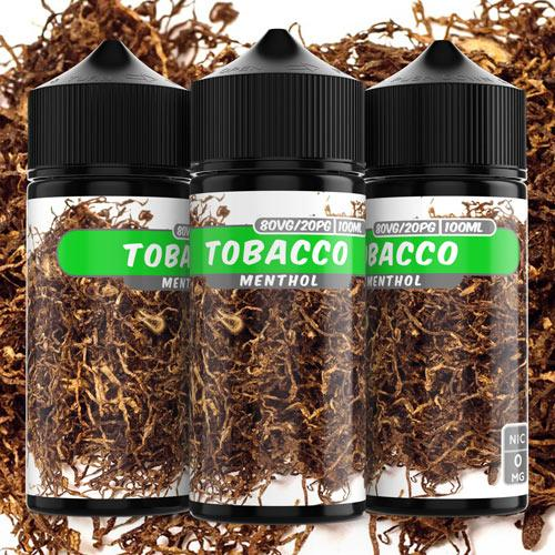 100ml 0mg Tobacco Menthol e liquid