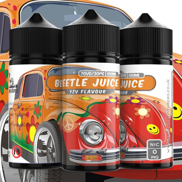 100ml Beetle Juice 0mg e liquid