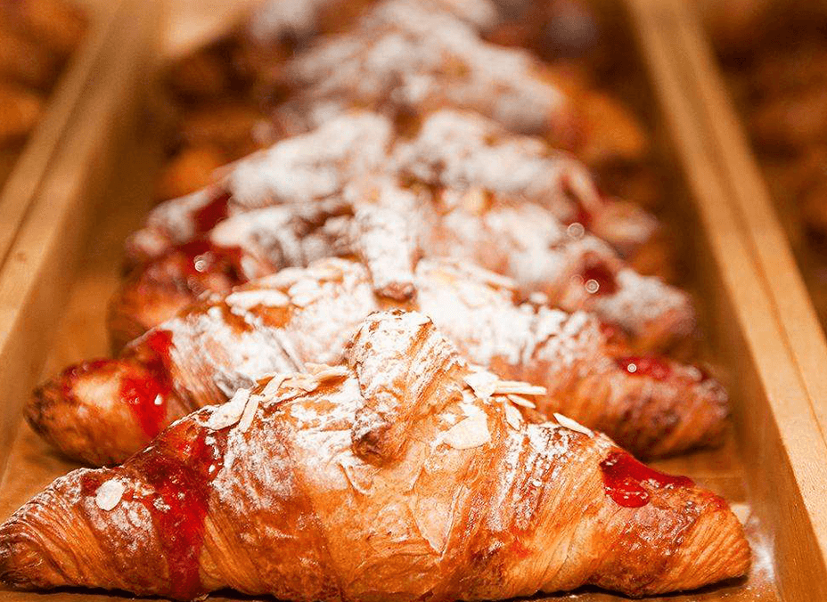 Fresh croissants baked daily