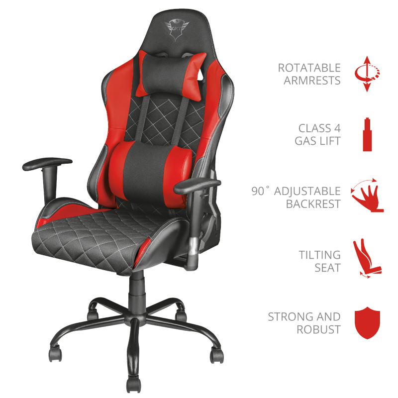 TRUST GXT707 RESTO GAMINGCHAIR RED 22692