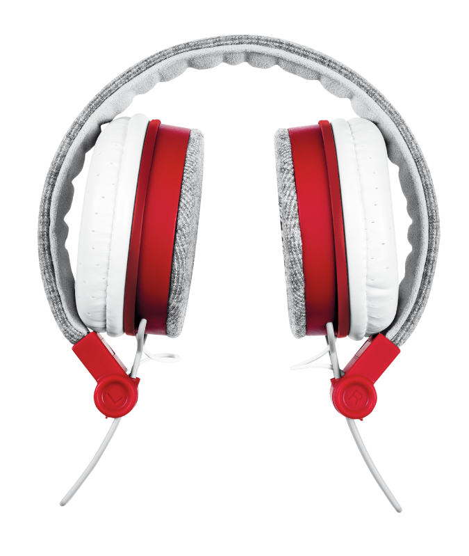 TRUST HEADPHONES UR FYBER GR/RED 20073