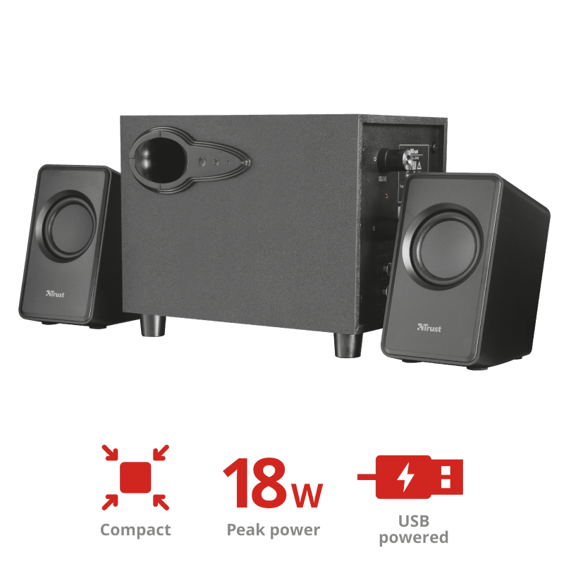TRUST SPEAKERS AVORA 2.1 20442