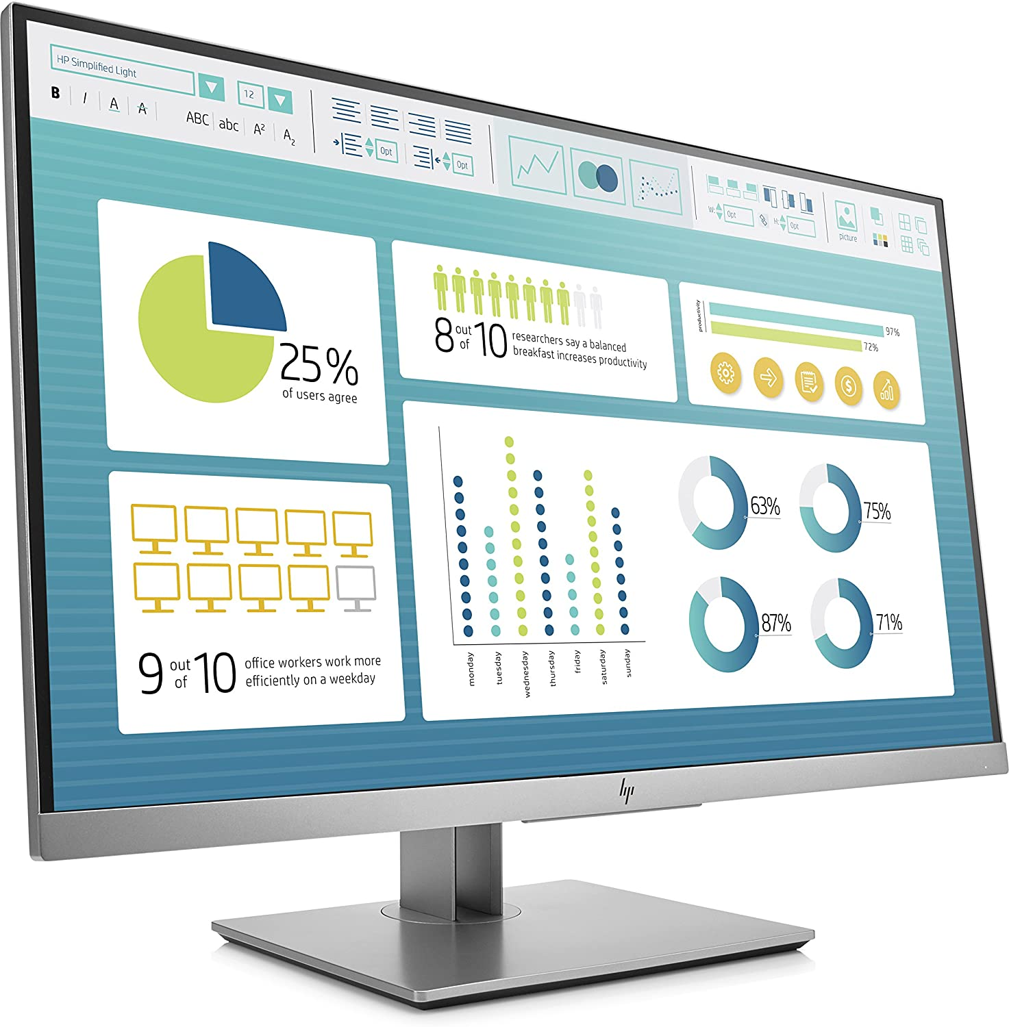 "HP MONITOR E273 27"" ELITE DISPLAY"