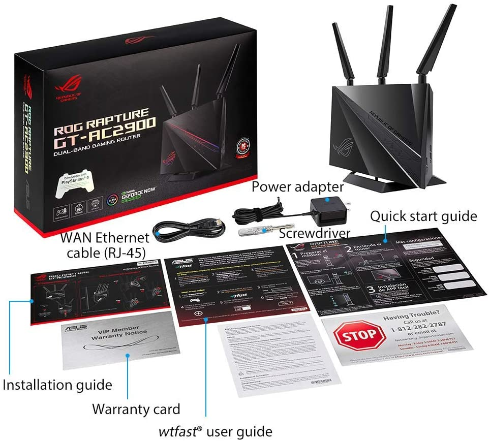 ASUS GT-AC2900 ROG RAPTURE GAMING ROUTER