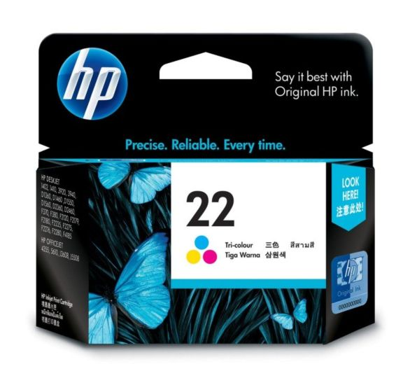 HP INK CARTRIDGE COLOR 22