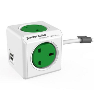 POWERCUBE 7400GN EXT.USB 1.5MM UK GREEN