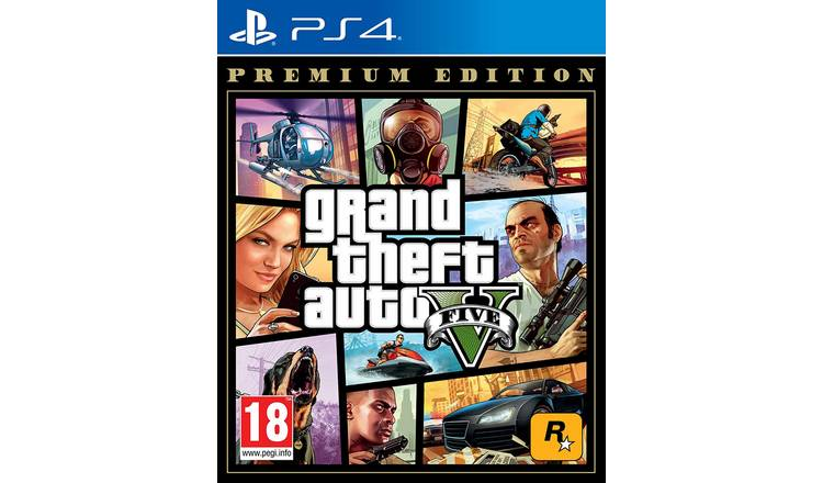 PS4 GAME GRAND THEFT AUTO V PREM.ONLINE