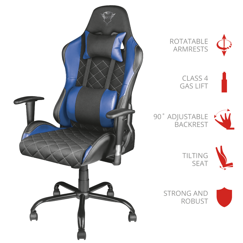 TRUST GXT 707 RESTO GAM.CHAIR 22526 BLUE