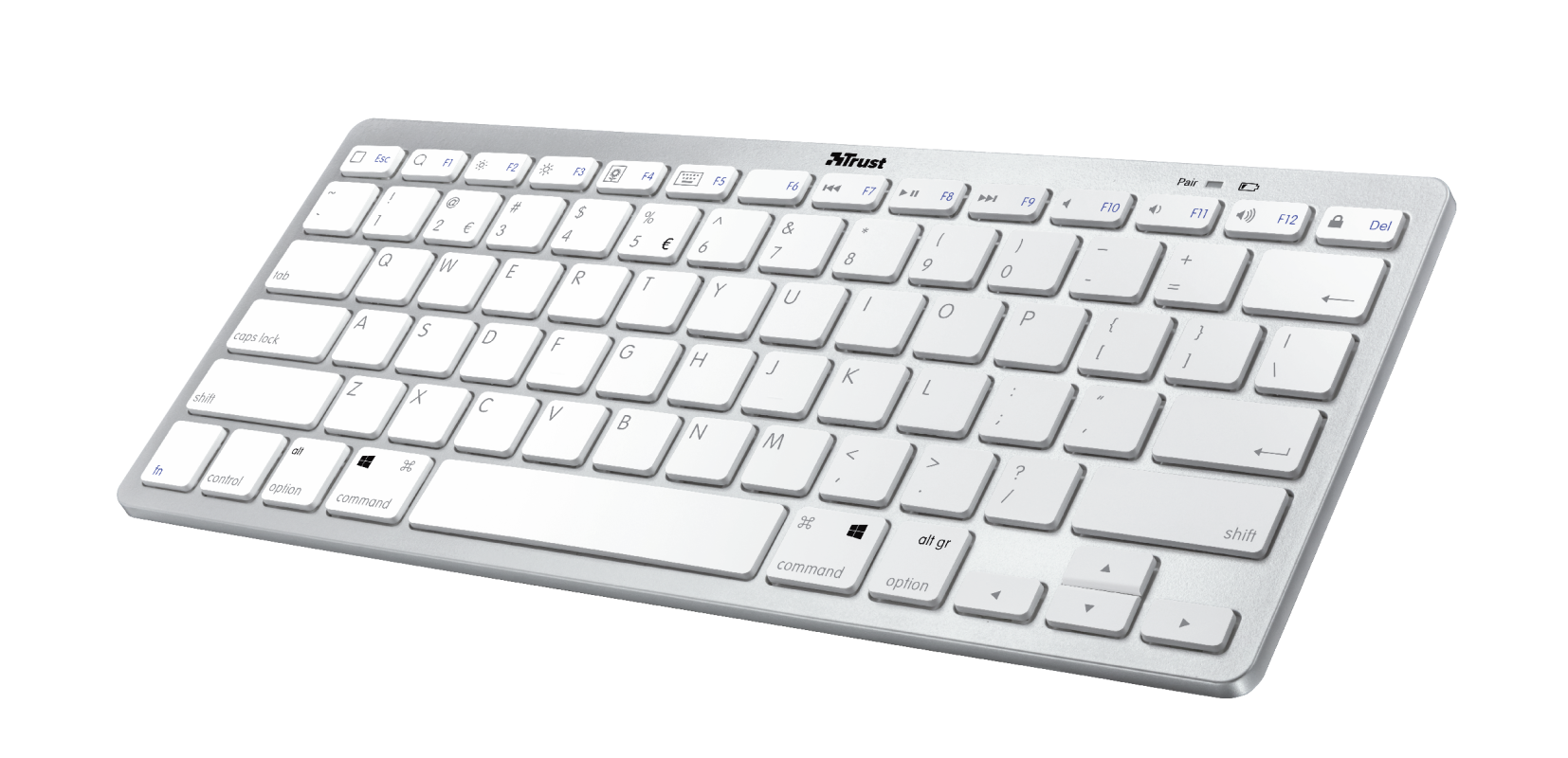 TRUST KEYBOARD WIRELESS BT NADO2 GR