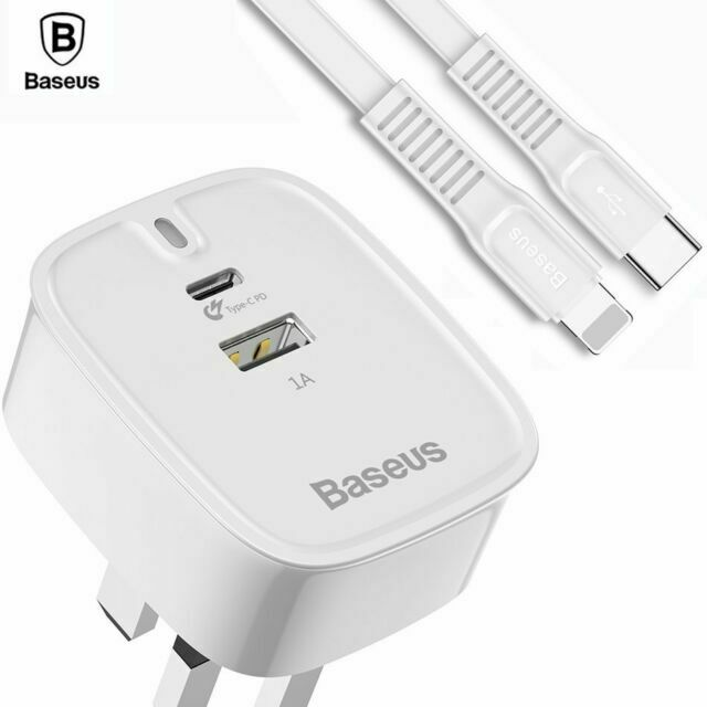 BASEUS TRAVEL CHARGER WHT